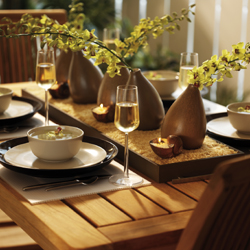 dinner party home staging hints